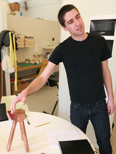 Jonathan Muecke at Cranbrook Academy of Art studios. Photo courtesy Simone DeSousa